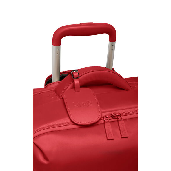 Lipault Original Plume Spinner 55/20 Carry-On in the color Cherry Red.
