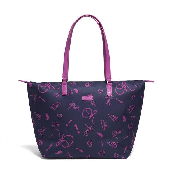 Lipault Comic Trip Medium Tote Bag in the color Oh La La.