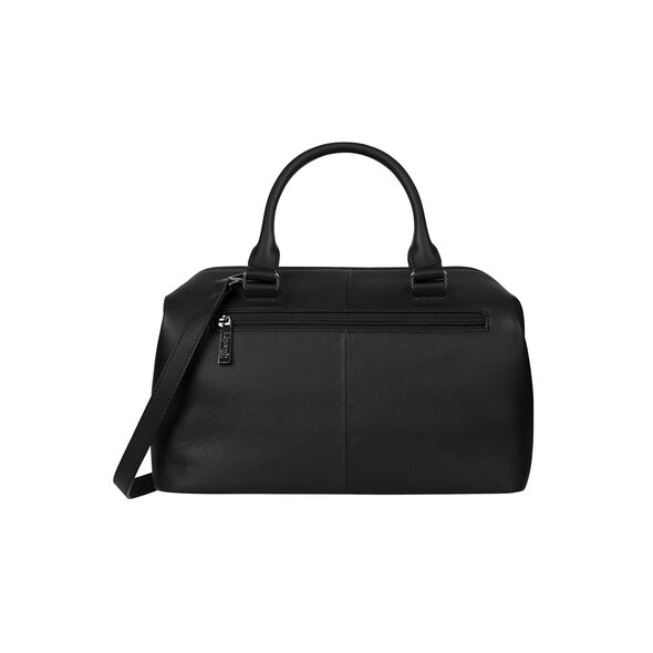 Lipault Plume Elegance Bowling Bag M in the color Black Leather.