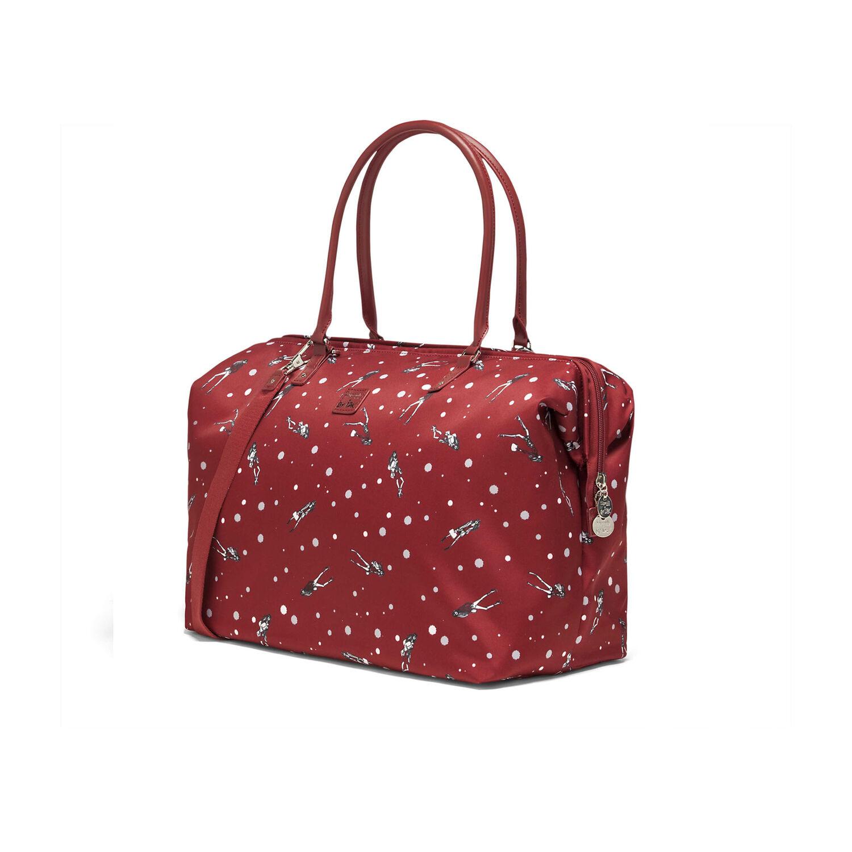 96a18479c Lipault Izak Zenou Weekend Bag M in the color Pose/Garnet Red.