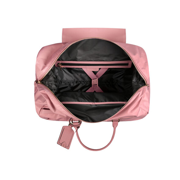 Lipault Plume Avenue Wheeled Duffle Bag in the color Azalea Pink.