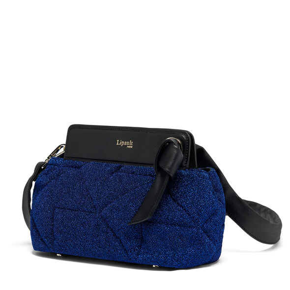 Lipault Noelie Crossbody Bag Evening Edition in the color Dazzling Blue.