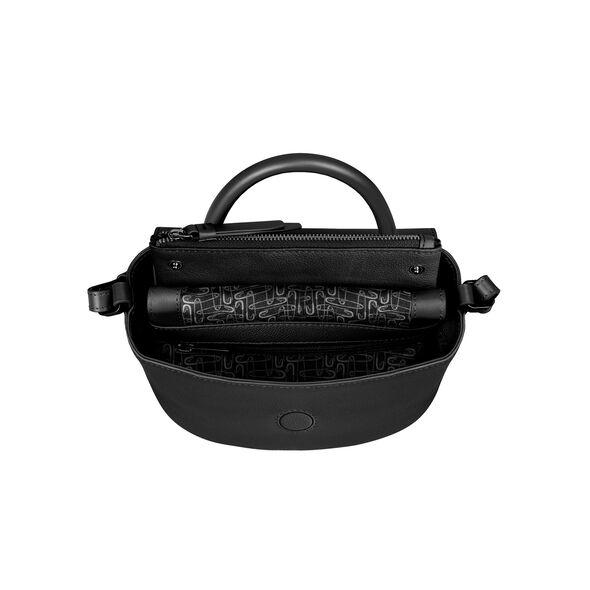 Lipault Plume Elegance Mini Handle Bag in the color Black Leather.