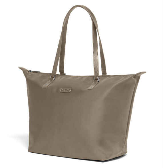 Lipault Lady Plume FL Tote Bag M in the color Dark Taupe.