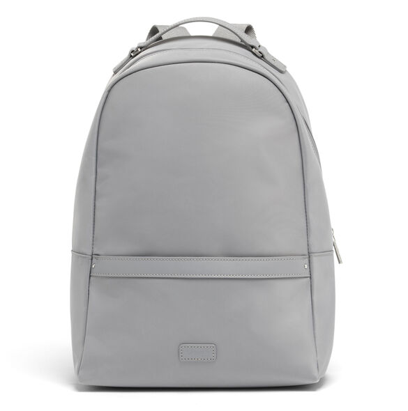Lipault Lady Plume Medium Backpack in the color Pearl Grey.