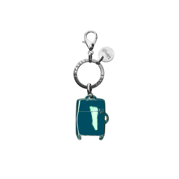 Lipault Plume Accessories Bag Charm - Spinner in the color Duck Blue.