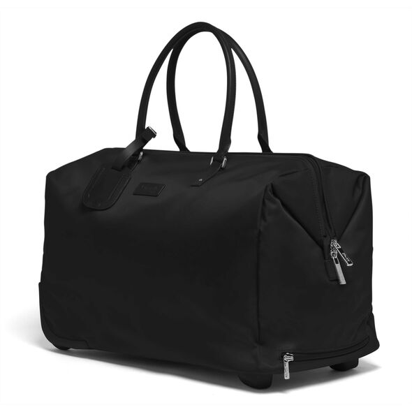 Lipault Lady Plume Wheeled Weekend Bag in the color Black.