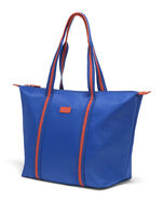 Lipault Lady Plume FL Tote Bag M in the color Electric Blue/Flash Coral.