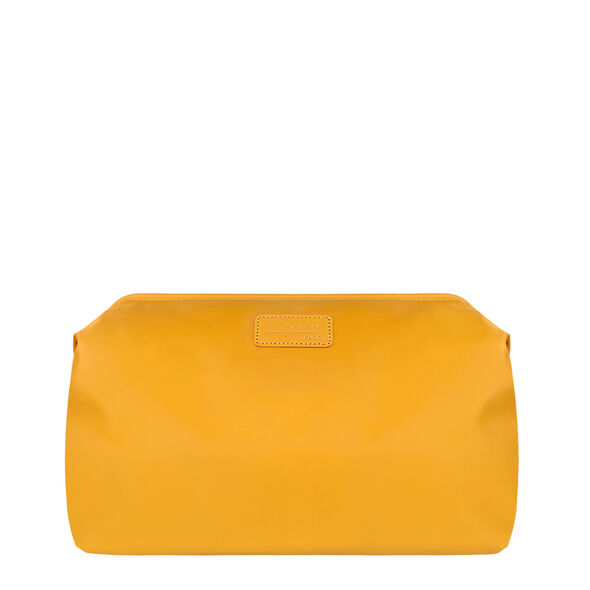 """Lipault Plume Accessories 12"""" Toiletry Kit in the color Mustard."""