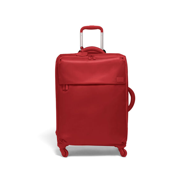 Lipault Original Plume Spinner 65/24 Packing Case in the color Cherry Red.