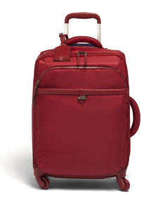 Lipault Plume Avenue Spinner 55/20 in the color Garnet Red.