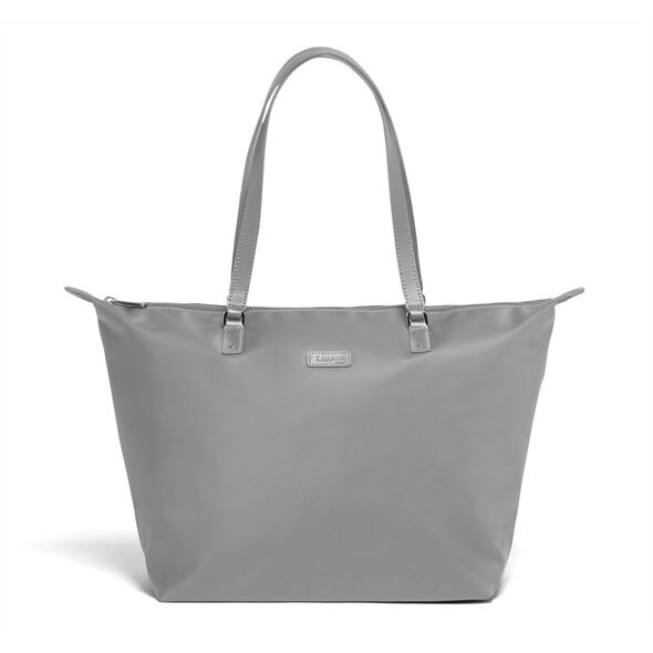 Lipault Lady Plume FL Tote Bag M in the color Pearl Grey.