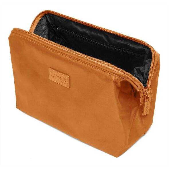 """Lipault Plume Accessories 12"""" Toiletry Kit in the color Clay."""