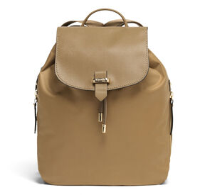 "Lipault Plume Avenue 15"" Laptop Backpack in the color Camel."