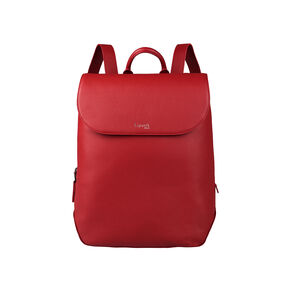 Lipault Plume Elegance Laptop Backpack M in the color Ruby Leather.