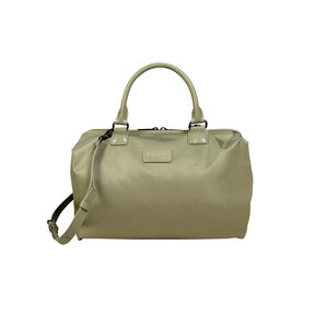 Lipault Lady Plume Bowling Bag M in the color Almond Green.