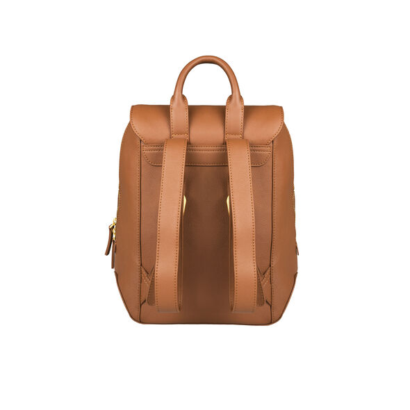 Lipault Plume Elegance Backpack S in the color Cognac Leather.