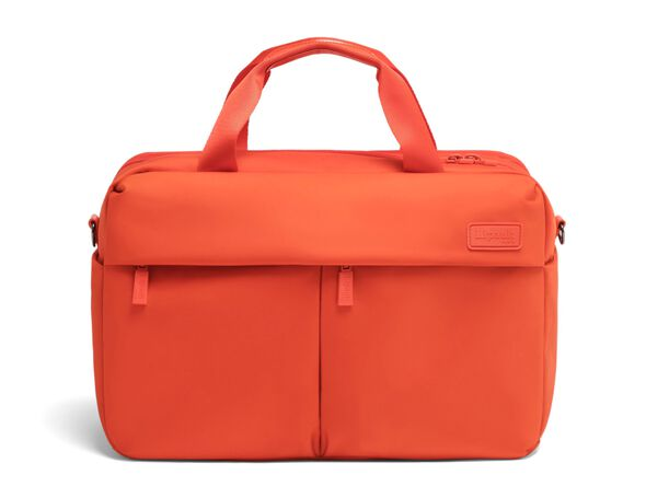 Lipault City Plume 24 Hour Bag in the color Flash Coral.
