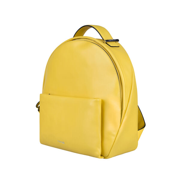 Lipault By The Seine Nano Backpack in the color Lemon Yellow.