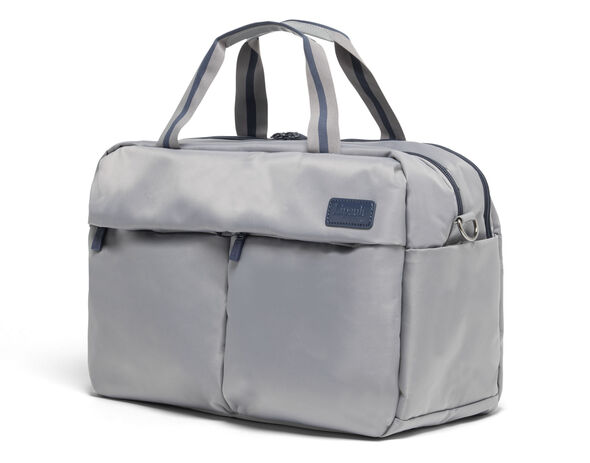 Lipault City Plume 24 Hour Bag in the color Pearl Grey/Navy.