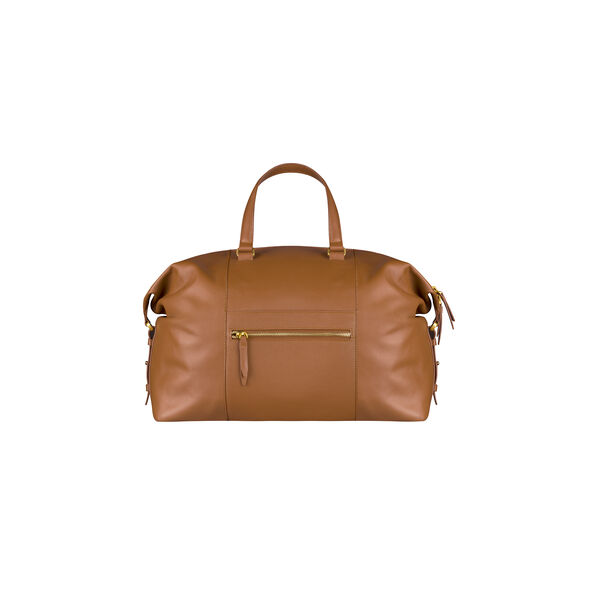 Lipault Plume Elegance Weekend Bag in the color Cognac Leather.