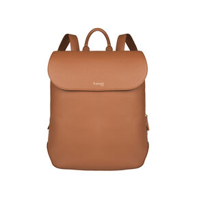 Lipault Plume Elegance Laptop Backpack M in the color Cognac Leather.