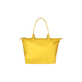 Lipault Lady Plume Tote Bag M in the color Saffron Yellow.