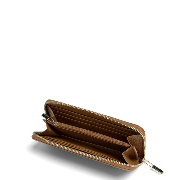 Lipault Invitation Zip Around Wallet in the color Caramel.