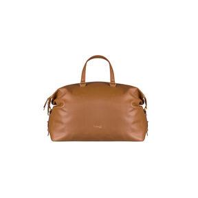 Lipault Plume Elegance Weekend Bag in the color Cognac Leather.