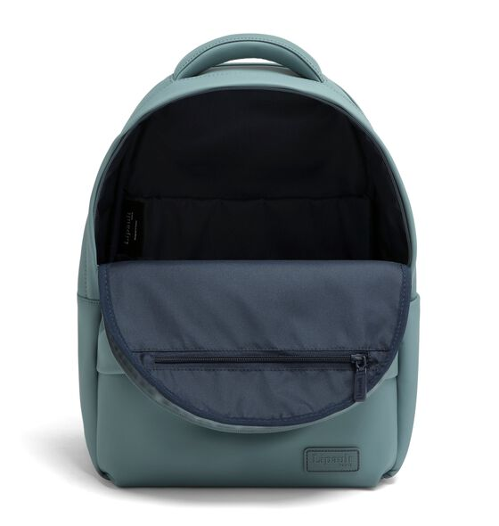 Lost In Berlin Backpack in the color Pebble Blue.