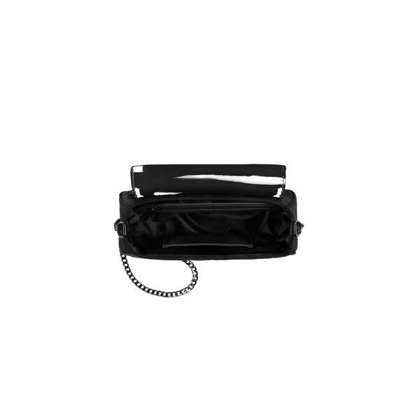 Lipault Plume Vinyle Saddle Bag Bi-Material in the color Black.