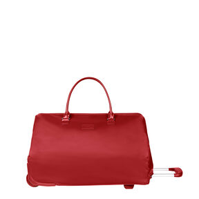 Lipault Lady Plume Wheeled Weekend Bag in the color Ruby.