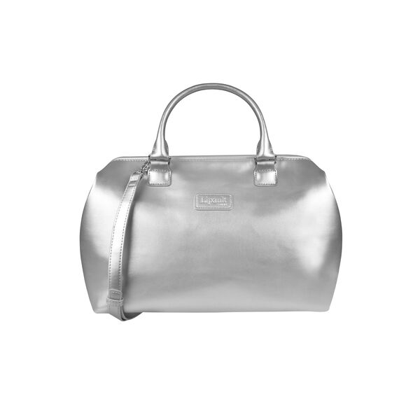 Lipault Miss Plume Bowling Bag M in the color Silver.