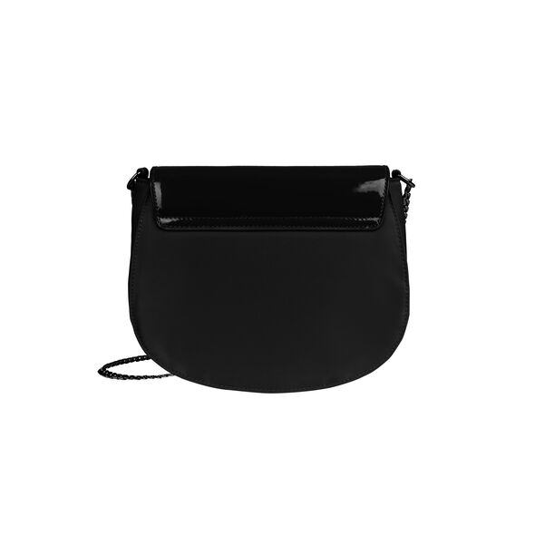 Lipault Plume Vinyle Saddle Bag Bi-Material in the color Black.
