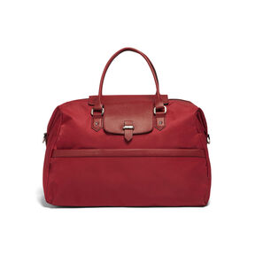 Lipault Plume Avenue Duffel Bag in the color Garnet Red.