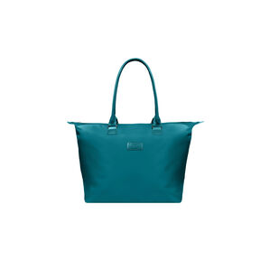 Lipault Lady Plume Shopping Tote L in the color Duck Blue.