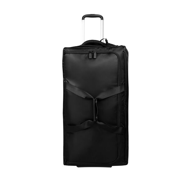 "Lipault 0% Pliable 30"" Wheeled Duffel in the color Black."
