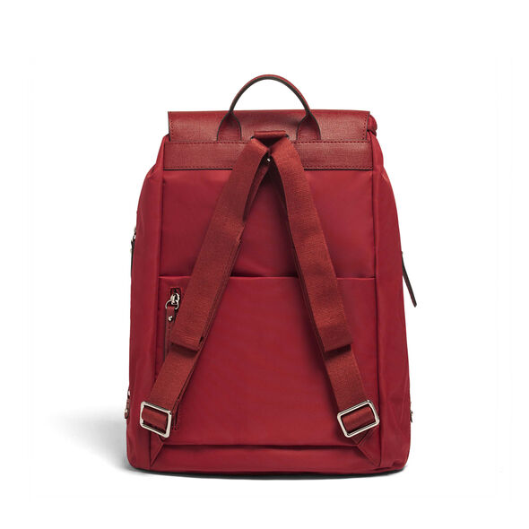 "Lipault Plume Avenue 15"" Laptop Backpack in the color Garnet Red."