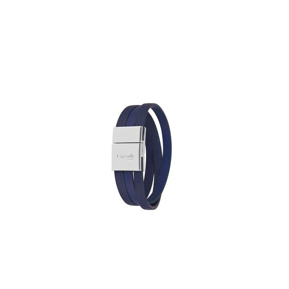 Lipault Plume Elegance Clasp Bracelet in the color Navy Leather.
