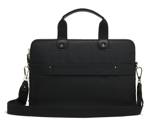 Lipault Business Avenue Slim Laptop Bag in the color Jet Black.
