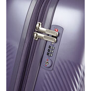 Lipault Dazzling Plume Spinner 55/20 in the color Pearl Purple.