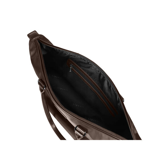 Lipault Lady Plume Shopping Tote L in the color Chocolate.