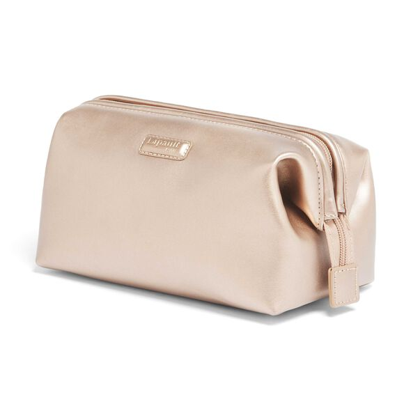 Lipault Miss Plume Toiletry Kit M in the color Pink Gold.