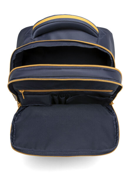 Lipault Plume Business Laptop Backpack M in the color Navy/Mustard.