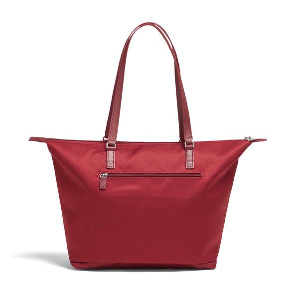 Lipault Izak Zenou Tote Bag M in the color Pose/Garnet Red.