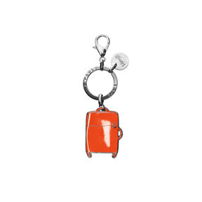 Lipault Plume Accessories Bag Charm - Spinner in the color Orange.
