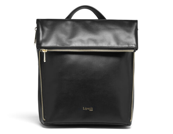 Lipault Rendez-Vous Backpack S in the color Black Leather.
