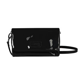 Lipault Plume Vinyle Clutch Bag M in the color Black.