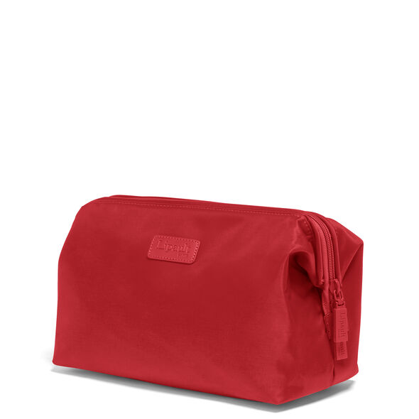Lipault Travel Accessories Toilet Kit M in the color Cherry Red.