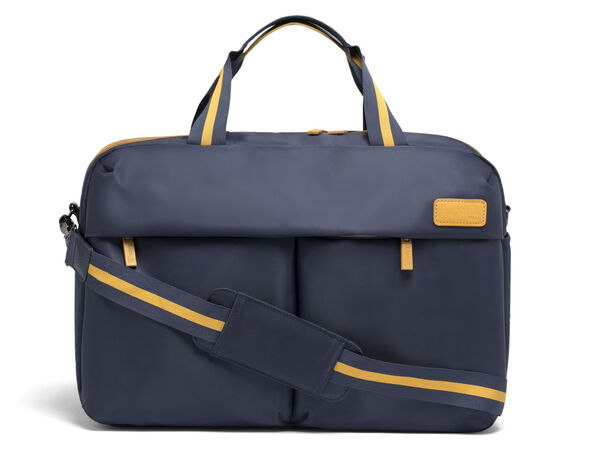 Lipault City Plume 24 Hour Bag in the color Navy/Mustard.